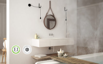 Using sustainable materials in a modern bathroom